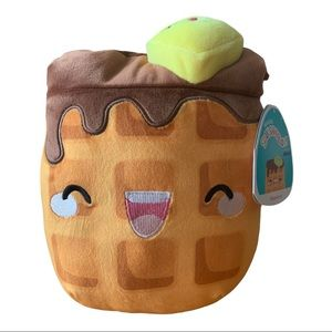 """Squishmallow Meemie the Waffle with Butter 8"""""""